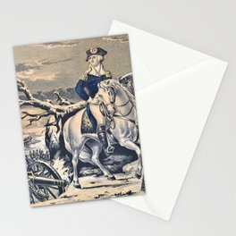 Nathaniel Currier - Washington Crossing the Delaware - Evening Previous to the Battle of Trenton, December 25th, 1776 Stationery Cards