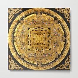 Buddhist Mandala Gold Temple 40 Metal Print