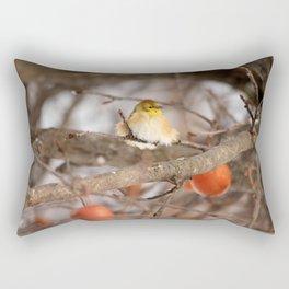 American Goldfinch in Winter Rectangular Pillow