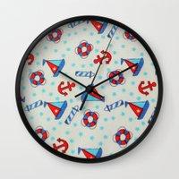 nautical Wall Clocks featuring Nautical by BellagioVista