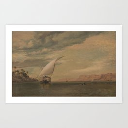 On the Nile by Edward William Cooke, 1860 Art Print