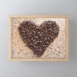 Coffee Heart Framed Mini Art Print