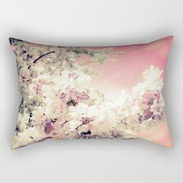 Pink Lavender Flowers Rectangular Pillow