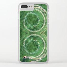 Circle ocean Clear iPhone Case