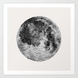 Watercolour Moon (Canvas) Kunstdrucke
