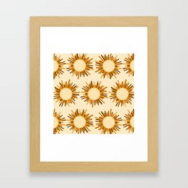 Art Deco Starburst Framed Art Print