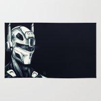 gundam Area & Throw Rugs featuring Mech 01 by Louis Bullock