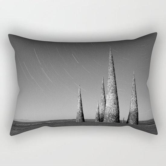 Grey black cones 4 Rectangular Pillow