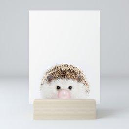 Bubble Gum Hedgehog Mini Art Print