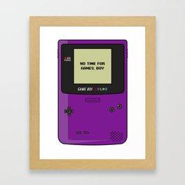 No Time For Games, Boy Framed Art Print