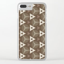 Upleft: digital abstract pattern Clear iPhone Case