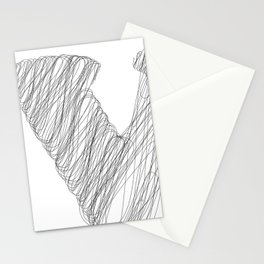 """ Cloud Collection "" - Minimal Letter V Print Stationery Cards"