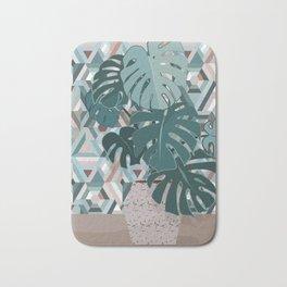 Monstera+mosaic Bath Mat