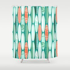 Simply Surf Boards Shower Curtain