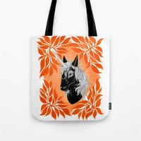 unicorn Tote Bags featuring Unicorn by Laura Preston Illustration