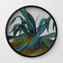 12,000pixel-500dpi - Johan Christian Dahl - Study Of An Agave - Digital Remastered Edition Wall Clock