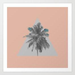 Motif Palmier Triangle Art Print