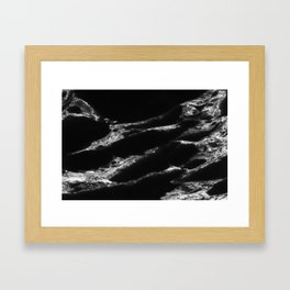 Black Marble Framed Art Print