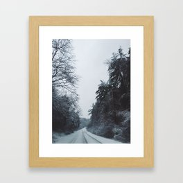 Winter Road Framed Art Print