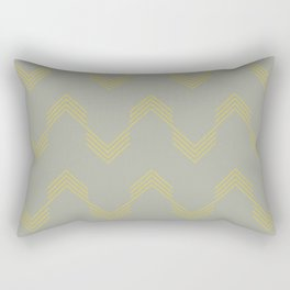 Simply Deconstructed Chevron Mod Yellow on Retro Gray Rectangular Pillow