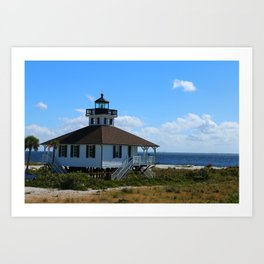 Port Boca Grande Light Art Print