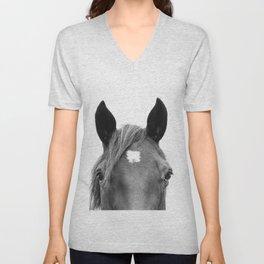 Peeking Horse Unisex V-Neck