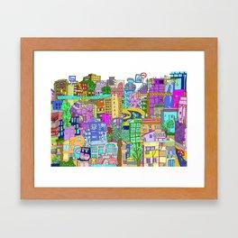 Tel Aviv (Color) Framed Art Print