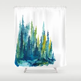 Limelight Pines - Pine Forest Shower Curtain