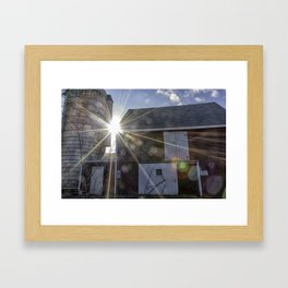 Lane's Barn Framed Art Print