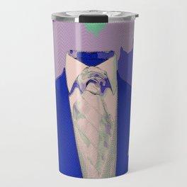 No Head Suit Pop Art Travel Mug