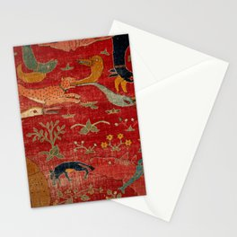Animal Grotesques Mughal Carpet Fragment Digital Painting Stationery Cards