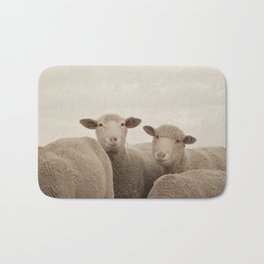 Smiling Sheep  Bath Mat
