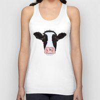 cow Tank Tops featuring Cow by Compassion Collective