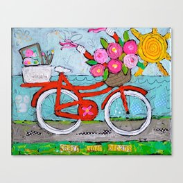Chase Your Dreams Bicycle Art Canvas Print