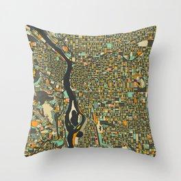 PORTLAND MAP Throw Pillow