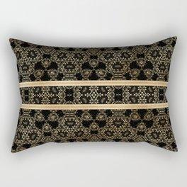 Elegant Black Gold Pattern Design Rectangular Pillow