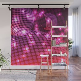 Abstract Disco Purple Wall Mural