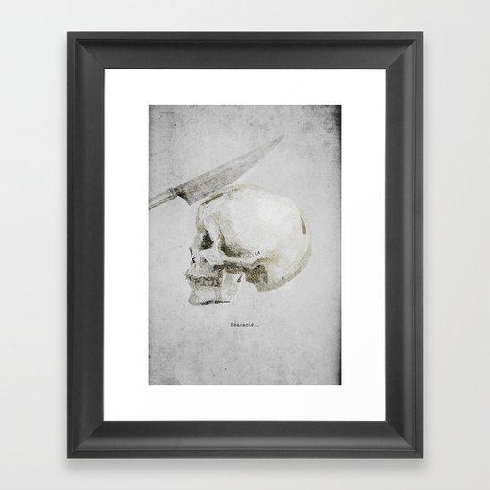 Headache Framed Art Print