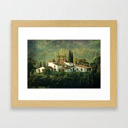 Spanish Villa Framed Art Print
