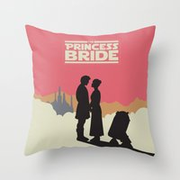 princess bride Throw Pillows featuring The Princess Bride by mattranzetta