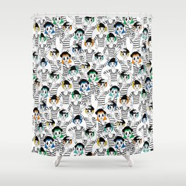 Millions of Mimes Shower Curtain