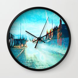 Raindrops and Light Dazzle. Wall Clock