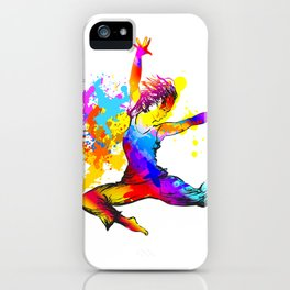 Hip hop dancer jumping iPhone Case