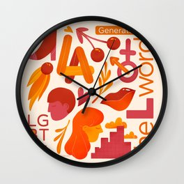 LA Fall Flash - Inspired by the L Word Wall Clock
