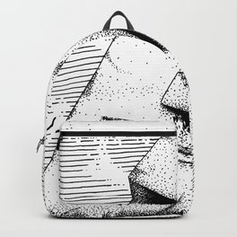 Carved Stone Face Backpack