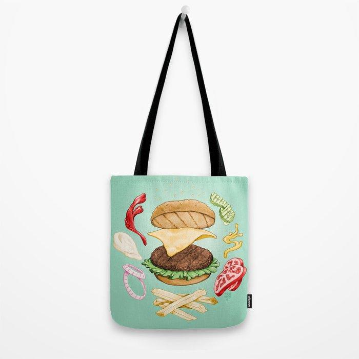 Burger Mandala Tote Bag