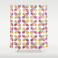 flower pattern Shower Curtains featuring flower pattern by VessDSign