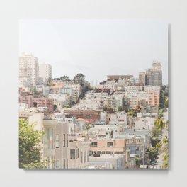 Top of a San Francisco Hill - San Francisco Photography Metal Print