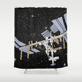 ISS- International Space Station Shower Curtain
