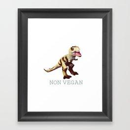 non vegan Framed Art Print
